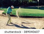 Golf. Sand Trap Play