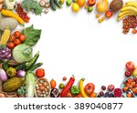 Organic food background. food...