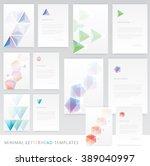 letterhead templates and... | Shutterstock .eps vector #389040997