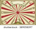 circus vintage horizontal... | Shutterstock .eps vector #389058397