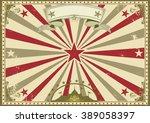 circus vintage horizontal... | Shutterstock .eps vector #389058397