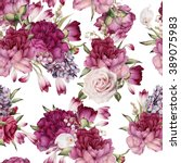seamless floral pattern with... | Shutterstock . vector #389075983