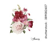 Bouquet Of Peonies  Watercolor...