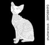 cat   devon rex   cat without... | Shutterstock . vector #389088493