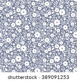 cute pattern in small flower.... | Shutterstock .eps vector #389091253