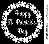 st. patrick's day. happy st... | Shutterstock .eps vector #389109277