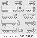 vector trucks icon set | Shutterstock .eps vector #389113753
