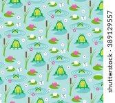 frog pond | Shutterstock .eps vector #389129557