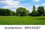 green parkland | Shutterstock . vector #389144287