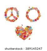 hippie flowers | Shutterstock .eps vector #389145247