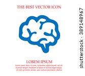 brain vector icon. simple... | Shutterstock .eps vector #389148967