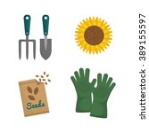 gardening icon design  | Shutterstock .eps vector #389155597