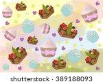 texture of cakes | Shutterstock . vector #389188093