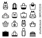 bag icon | Shutterstock .eps vector #389192233