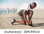 young black man preparing for