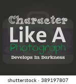 photography quote poster | Shutterstock .eps vector #389197807