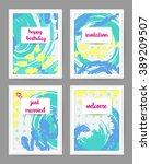 set of creative universal cards.... | Shutterstock .eps vector #389209507