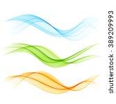 set of color wave blue green... | Shutterstock . vector #389209993