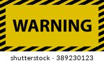 warning sign | Shutterstock .eps vector #389230123