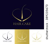 hair care and transplant logo... | Shutterstock .eps vector #389235673