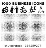 1000 business glyph icons.... | Shutterstock . vector #389259277