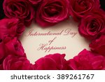 international day of happiness | Shutterstock . vector #389261767