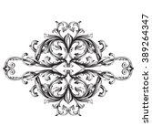 vintage baroque frame scroll... | Shutterstock . vector #389264347