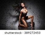 sexy beautiful dancer | Shutterstock . vector #389272453