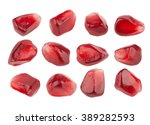 pomegranate seeds closeup ... | Shutterstock . vector #389282593