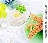 pudding in glass with starfish   Shutterstock . vector #38930368