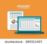 spreadsheet icon design | Shutterstock .eps vector #389321407