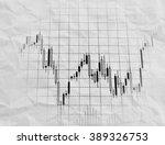 stock exchange trade chart on... | Shutterstock . vector #389326753