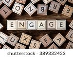 the word of engage on building... | Shutterstock . vector #389332423