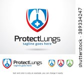 protect lungs logo template... | Shutterstock .eps vector #389334247