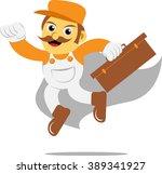 mechanic hero | Shutterstock .eps vector #389341927