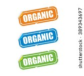 organic sticker labels | Shutterstock .eps vector #389343697