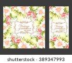 vintage delicate invitation...   Shutterstock .eps vector #389347993