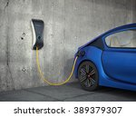 electric vehicle charging... | Shutterstock . vector #389379307