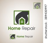 home repair logo | Shutterstock .eps vector #389430997