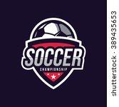 soccer logos  american logo... | Shutterstock .eps vector #389435653