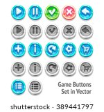 game buttons set in vector...