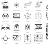 black and white flat icons set... | Shutterstock .eps vector #389447143