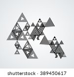 triangle design. vector hipster ... | Shutterstock .eps vector #389450617