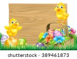 Isolated Wooden Cartoon Easter...