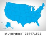 modern map   usa with federal...   Shutterstock .eps vector #389471533
