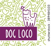 vector flat pet. dog  cat... | Shutterstock .eps vector #389484103