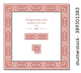 vintage 3d frame   geometry... | Shutterstock .eps vector #389501383