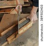 grinder on the job in hands   Shutterstock . vector #389502403