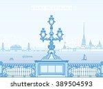 saint petersburg troitsky... | Shutterstock .eps vector #389504593