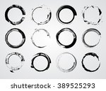 set of circle shapes.stamps... | Shutterstock .eps vector #389525293